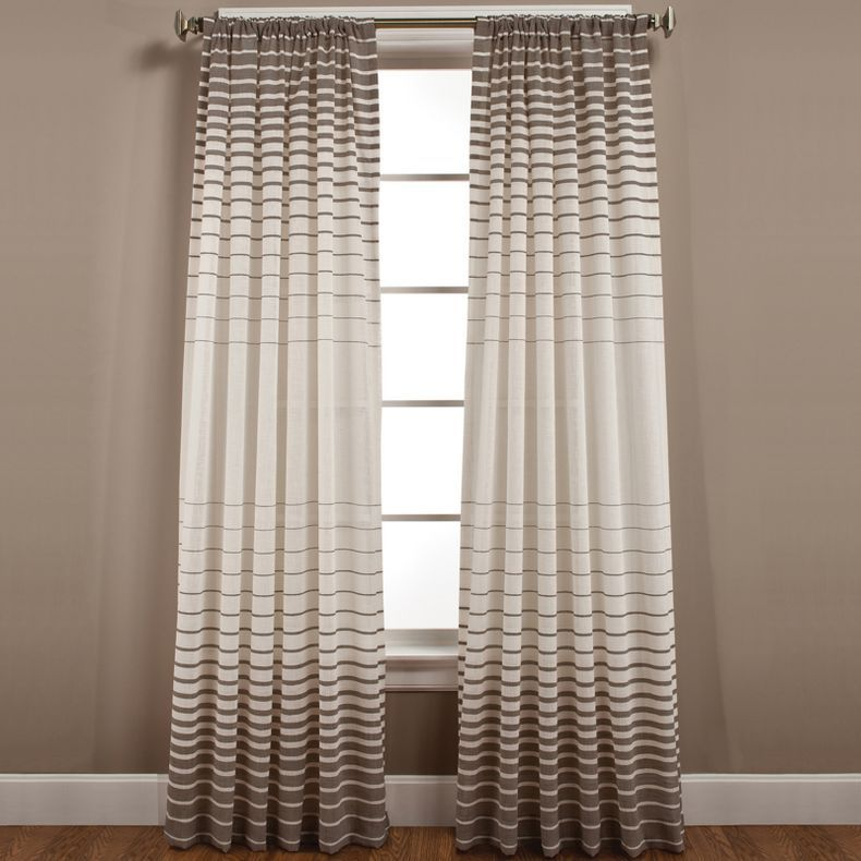 Striped Curtains Side Step Rod Pocket Curtain Panel Jcpenney