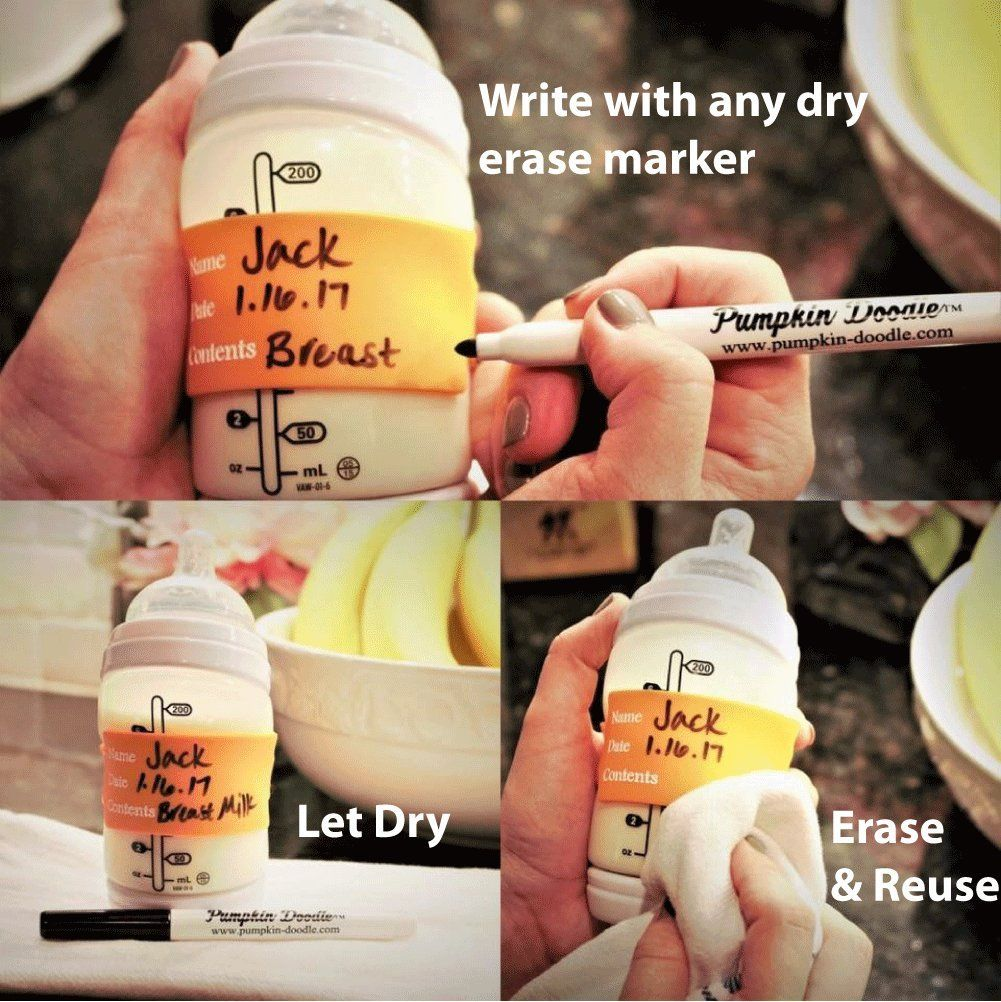 The Original Silicone Write And Reuse Baby Bottle Labels Available In 9 Colors 4 Labels And Free Dry Erase Marker Baby Bottle Labels Bottle Baby Bottles