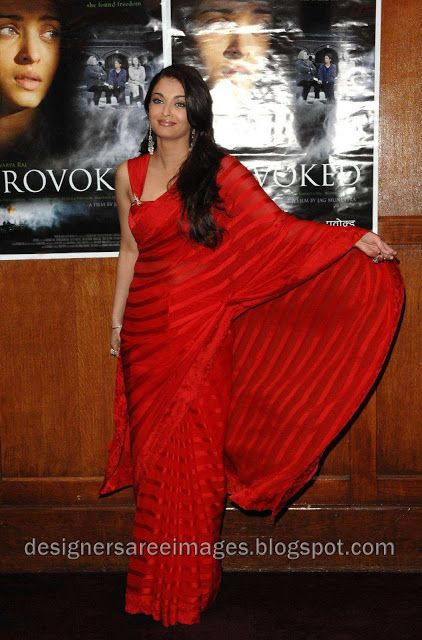 Aishwarya Rai Red Sari Designer Saree Bollywood Saree Bridal Saree Aishwarya Rai In Red Saree Designs Saree Satin Saree