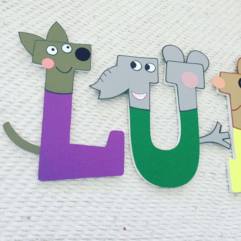 Peppa Pig Custom Wood Letters Wood letters, Kid room