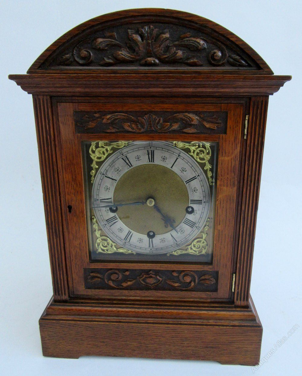 Antiques Atlas Victorian Carved Oak Mantel Clock Antique