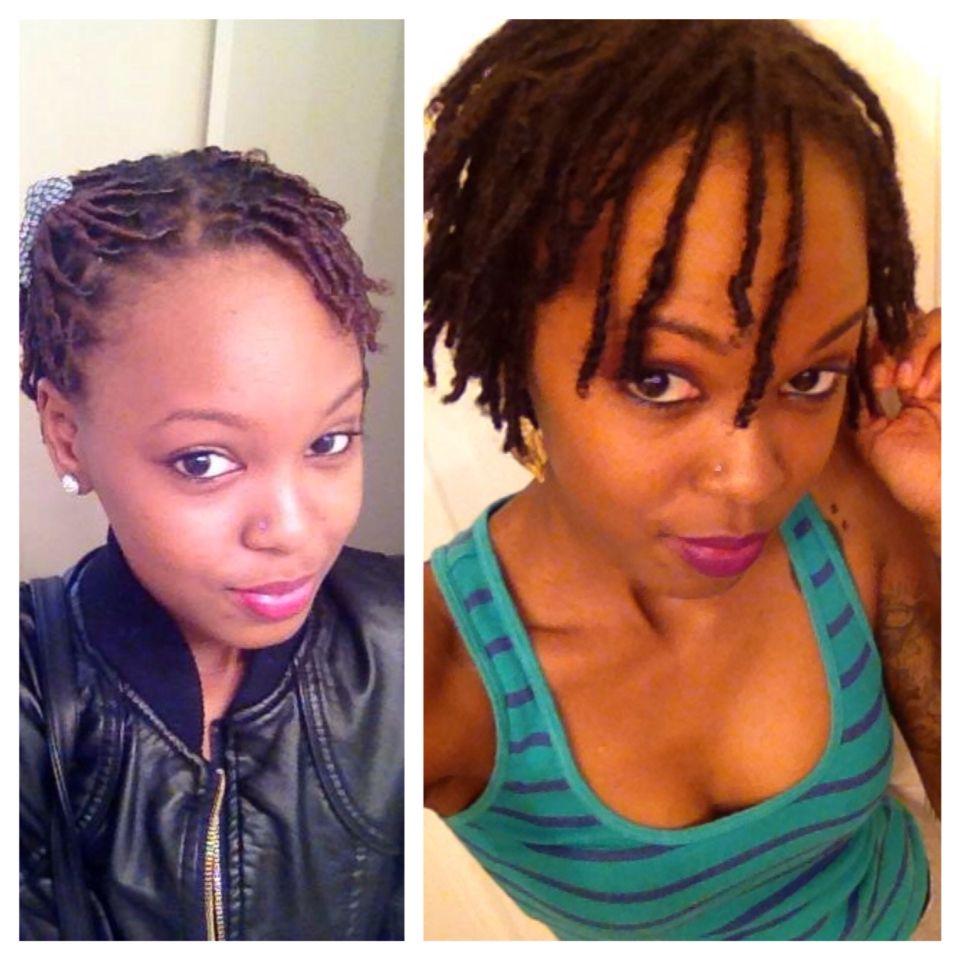 Locs Starter Locs Vs Teenage Locs Month 1 Month 6 Boomin Colored Locs Natural Hair Woman Natural Hair Styles Locs Hairstyles