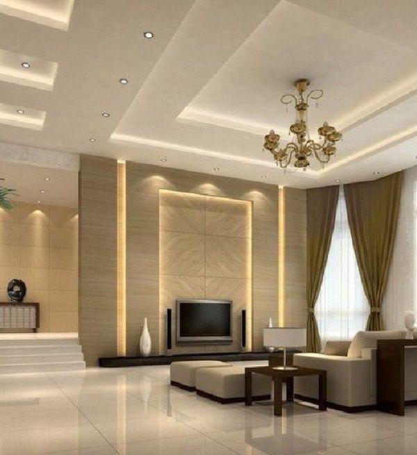 Living Hall Interior Design: 50 Inspirational TV Wall Ideas
