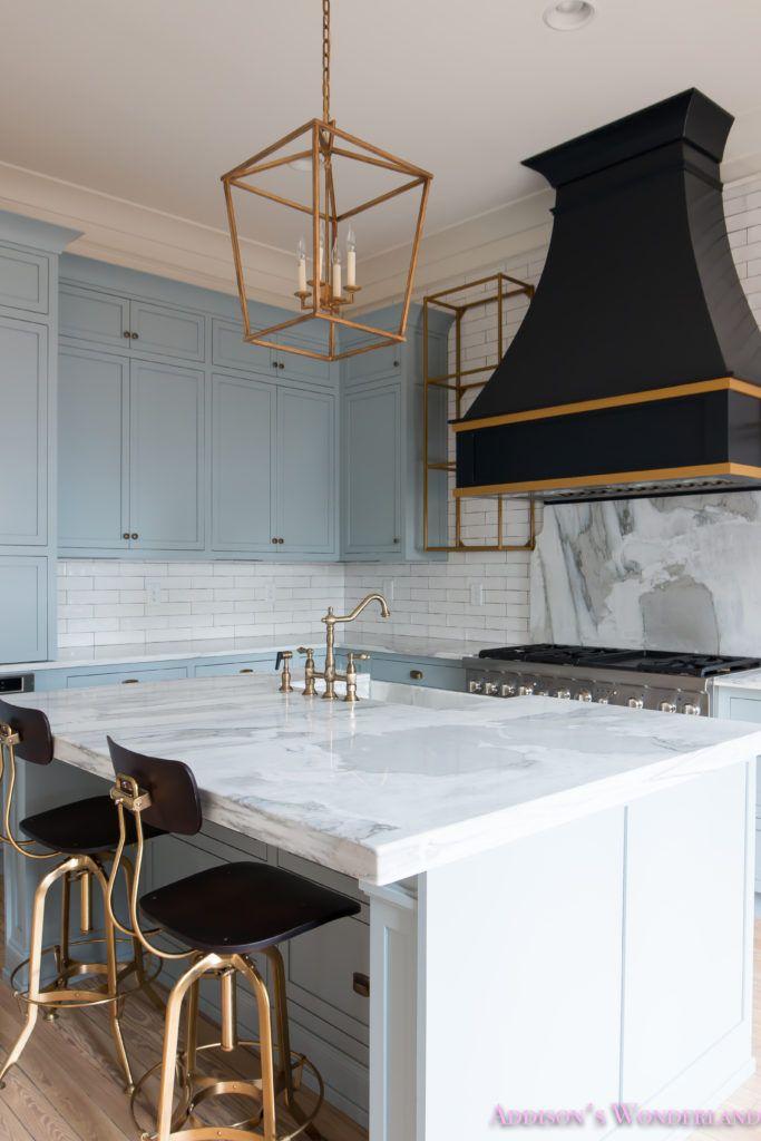 Best Our Vintage Modern Kitchen Reveal Blue Kitchen Cabinets 400 x 300