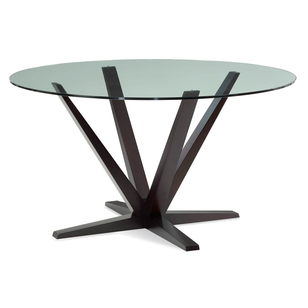 Aura Round Glass Top Dining Table Part Of Saloom Furniture S