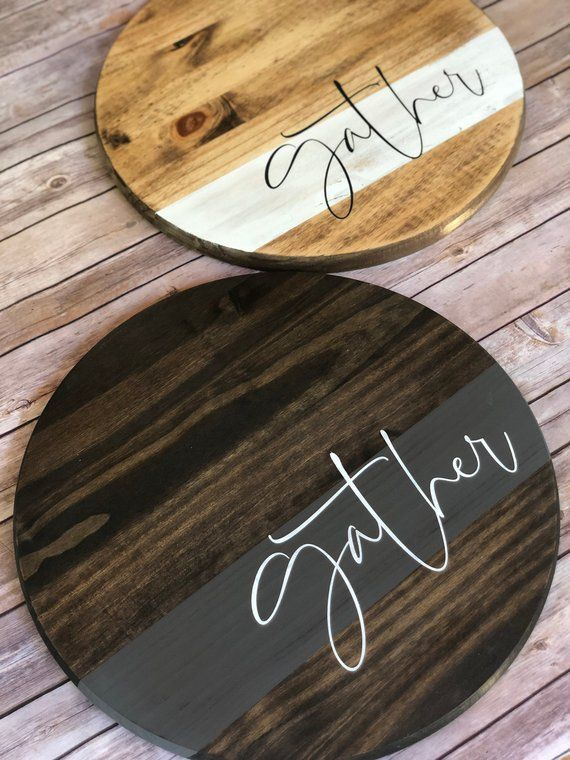 Gather Round Farmhouse Wood Sign | Living Room Decor | Wooden Tray | Wooden Sign | For the Home | For her | Wedding Decor
