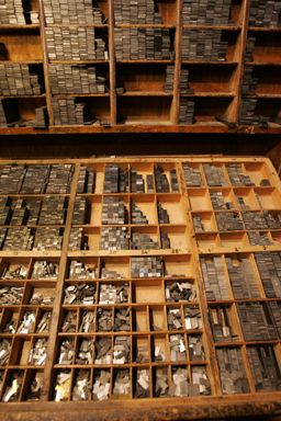 Johannes Gutenberg Inventions Case With Lead And Movable Type Johannes German