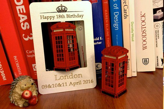 Unique Birthday Card Luxury Gift Greeting 3d Pop Up London Telephone Booth England Be