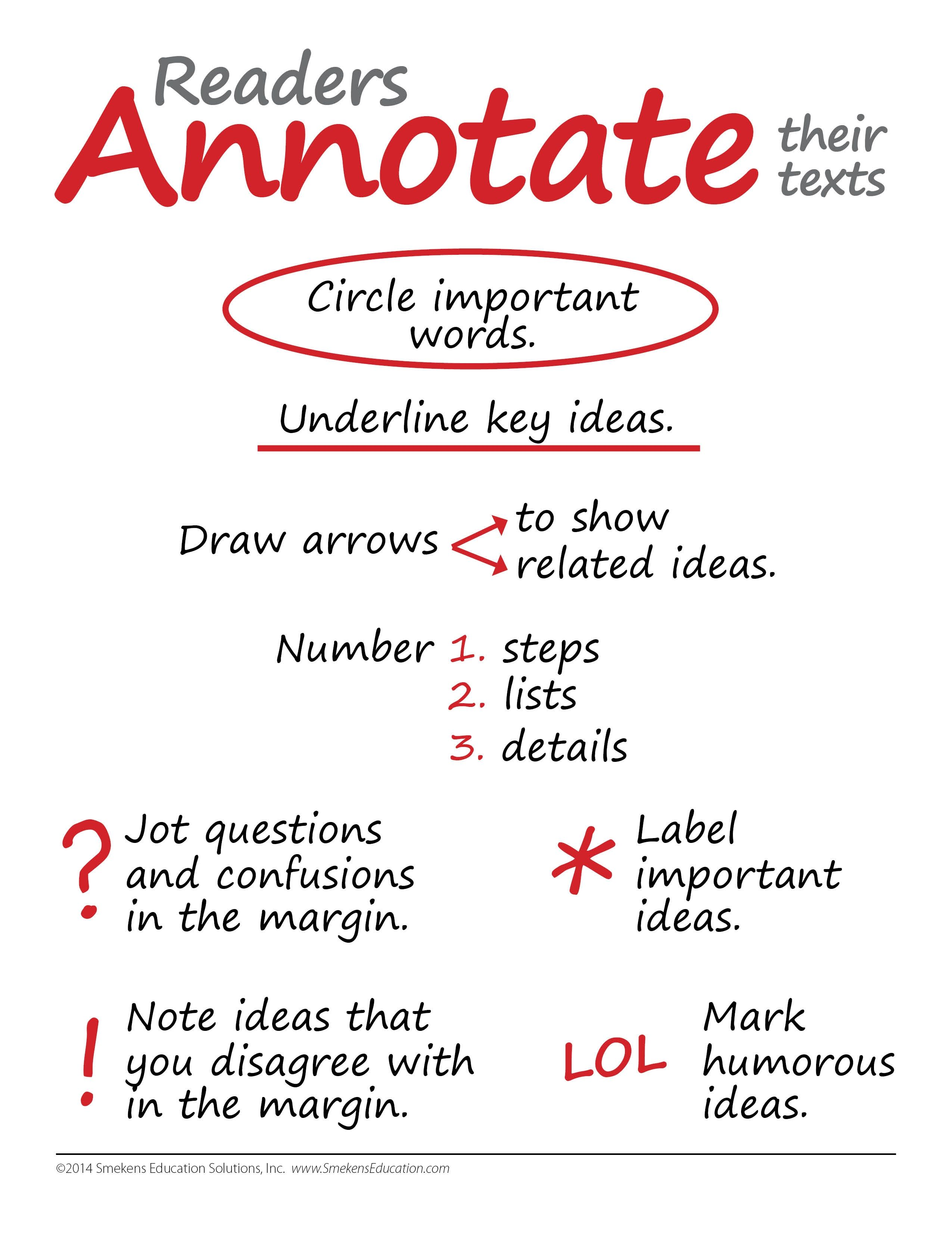 Reader Annotate Their Notes Note taking strategies