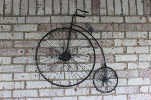 Vintage Penny Farthing Decorative Wall Art Bike Bicycle Bicicletas Bici Metal