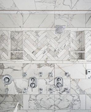 Calacatta Gold Steam Shower - traditional - Bathroom - Salt Lake City - Tarkus Tile, Inc.