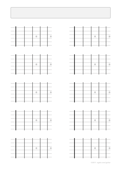 Guitar Blank Fretboard Charts 4 Frets With Inlays Song Writing
