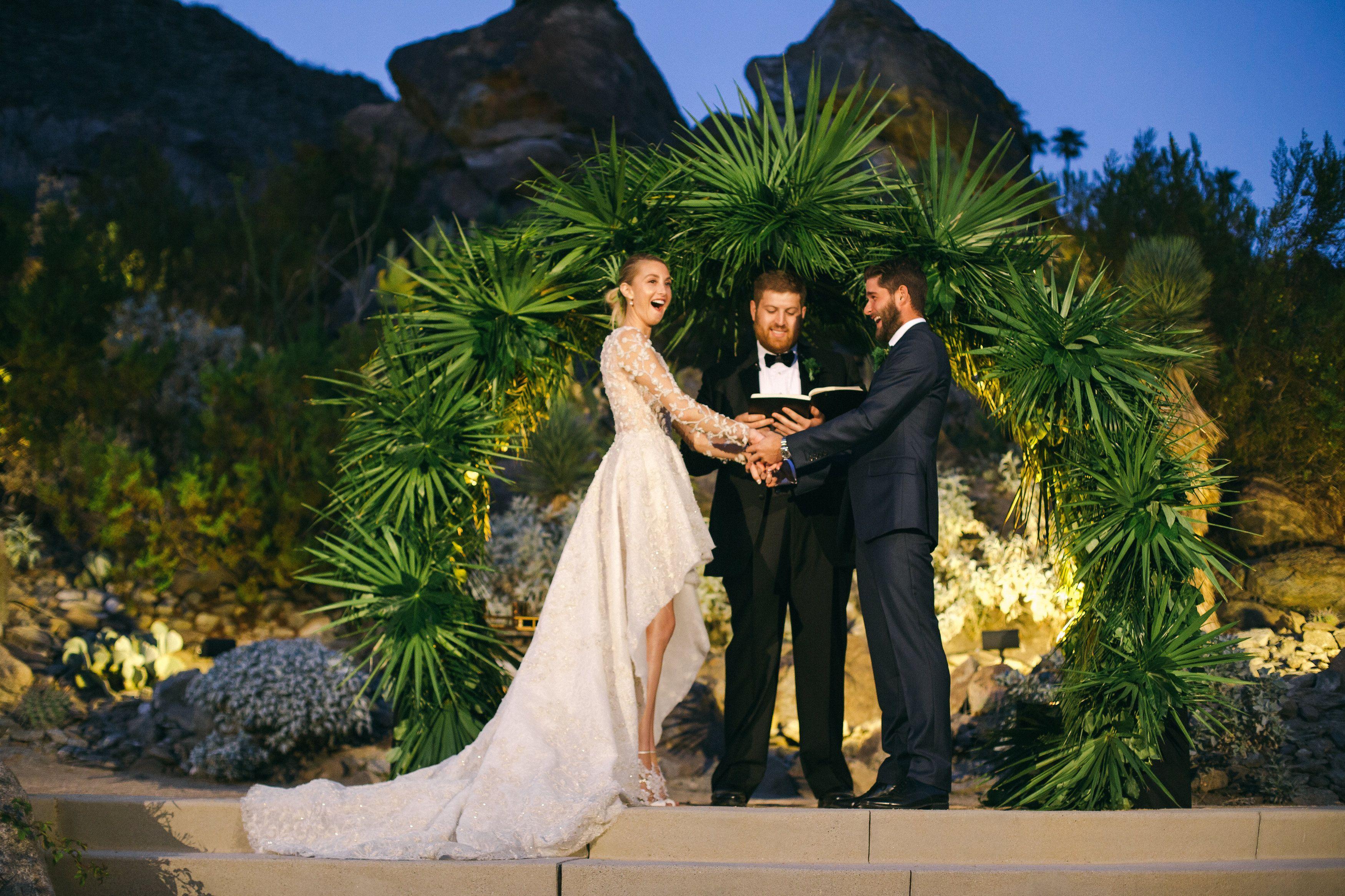 Our Wedding Ceremony Whitney Port Whitney Port Wedding Wedding Palm Springs Wedding