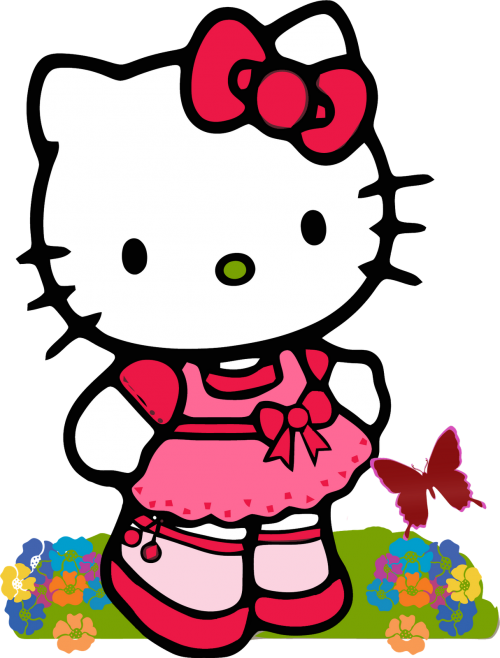 Hello kitty butterfly. Best clipart no and