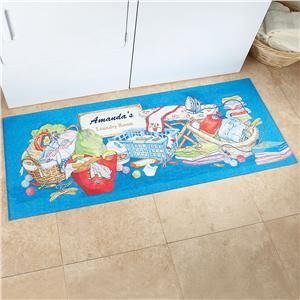 Laundry Room Double Width Personalized Doormat