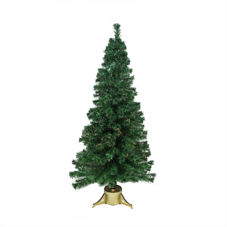 7\' Pre-Lit Color Changing Fiber Optic Artificial Christmas Tree ...
