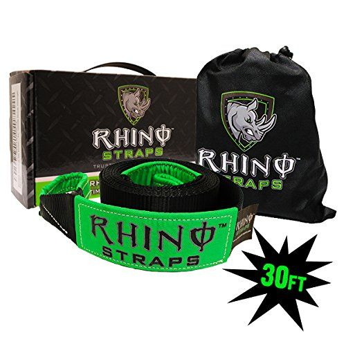 """RHINO USA Recovery Tow Strap 3"""" x 30ft - Lab Tested 31,51..."""