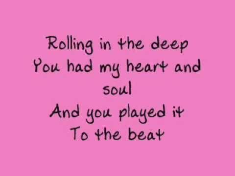 Adele Rolling In The Deep Lyrics Liedjes Muziek