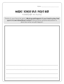 Magic School Bus Plays Ball Force And Motion Worksheets By Brianne Dekker Magic School Bus Magic School Magic School Bus Episodes