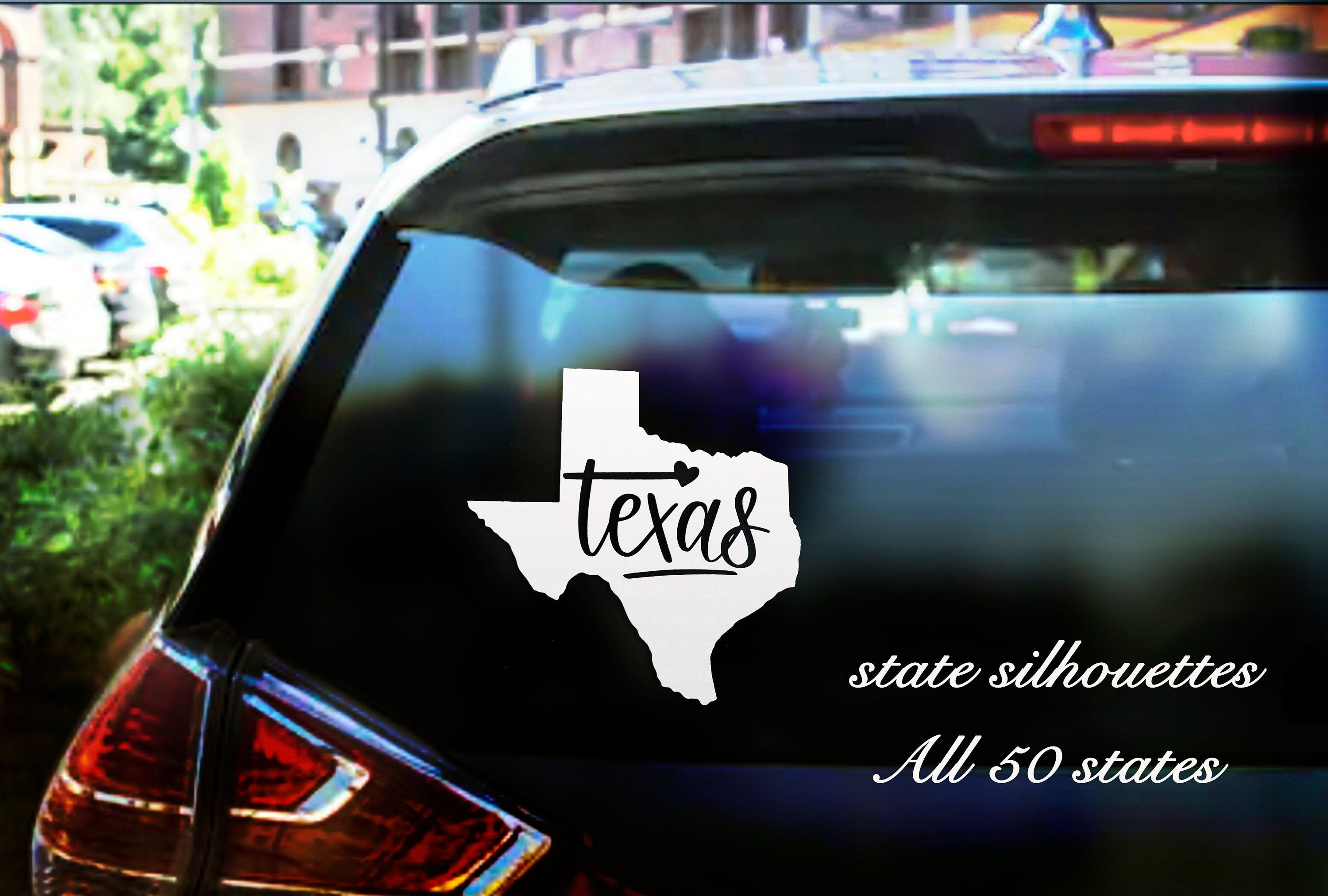 State Car Window Decal Any Of The 50 States Customized Back Car Decal Personalized Sticker Create Your Own Personalized Stickers Car Window Decals Car Decals [ 2025 x 3000 Pixel ]