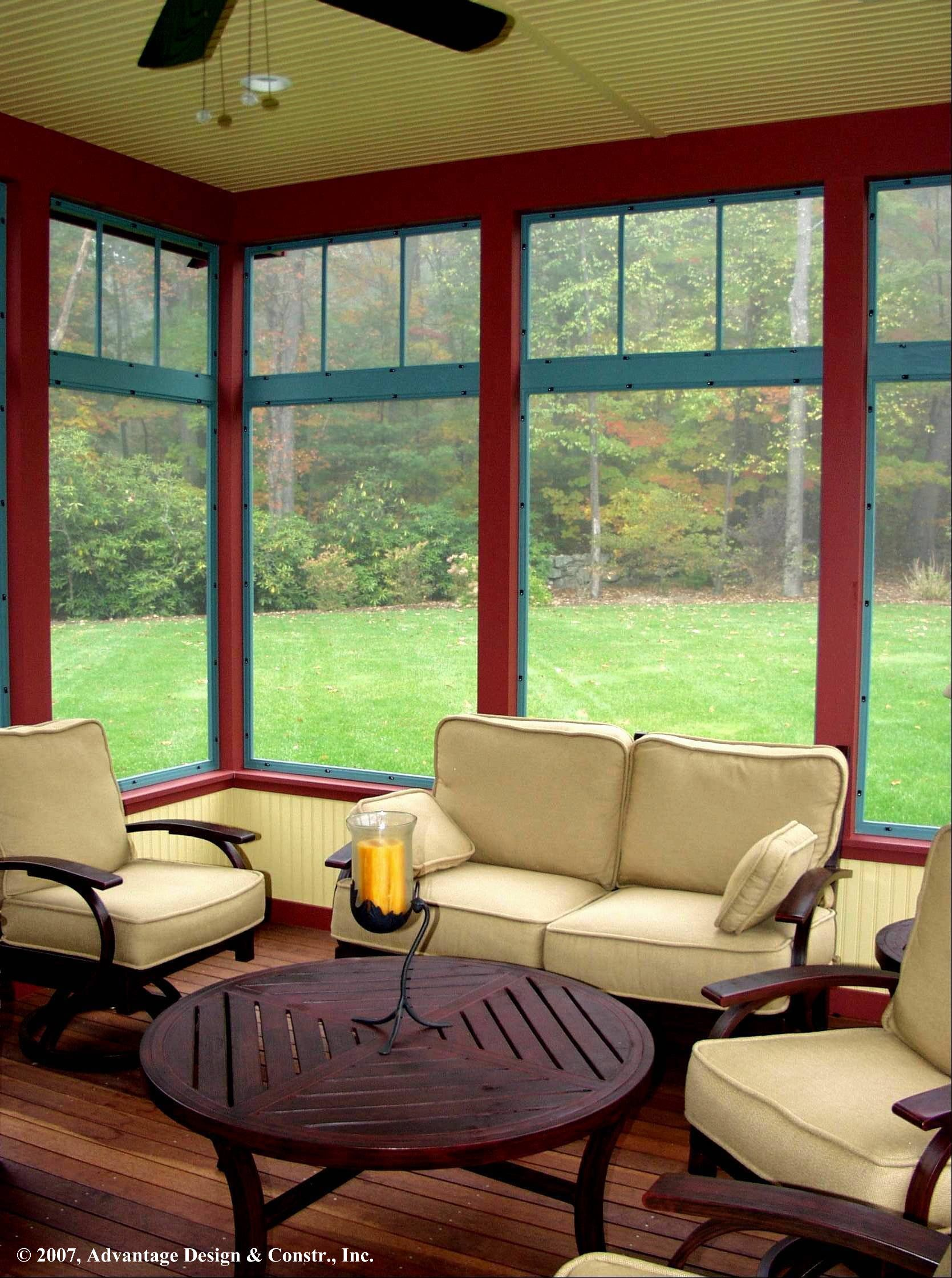 Back Porch Additions Best Ideas About Room Additions On House Additions Interior Designs: Wood-frame Windows Enclose The Front Porch Of The Columbia County, New York, Cottage Shared By