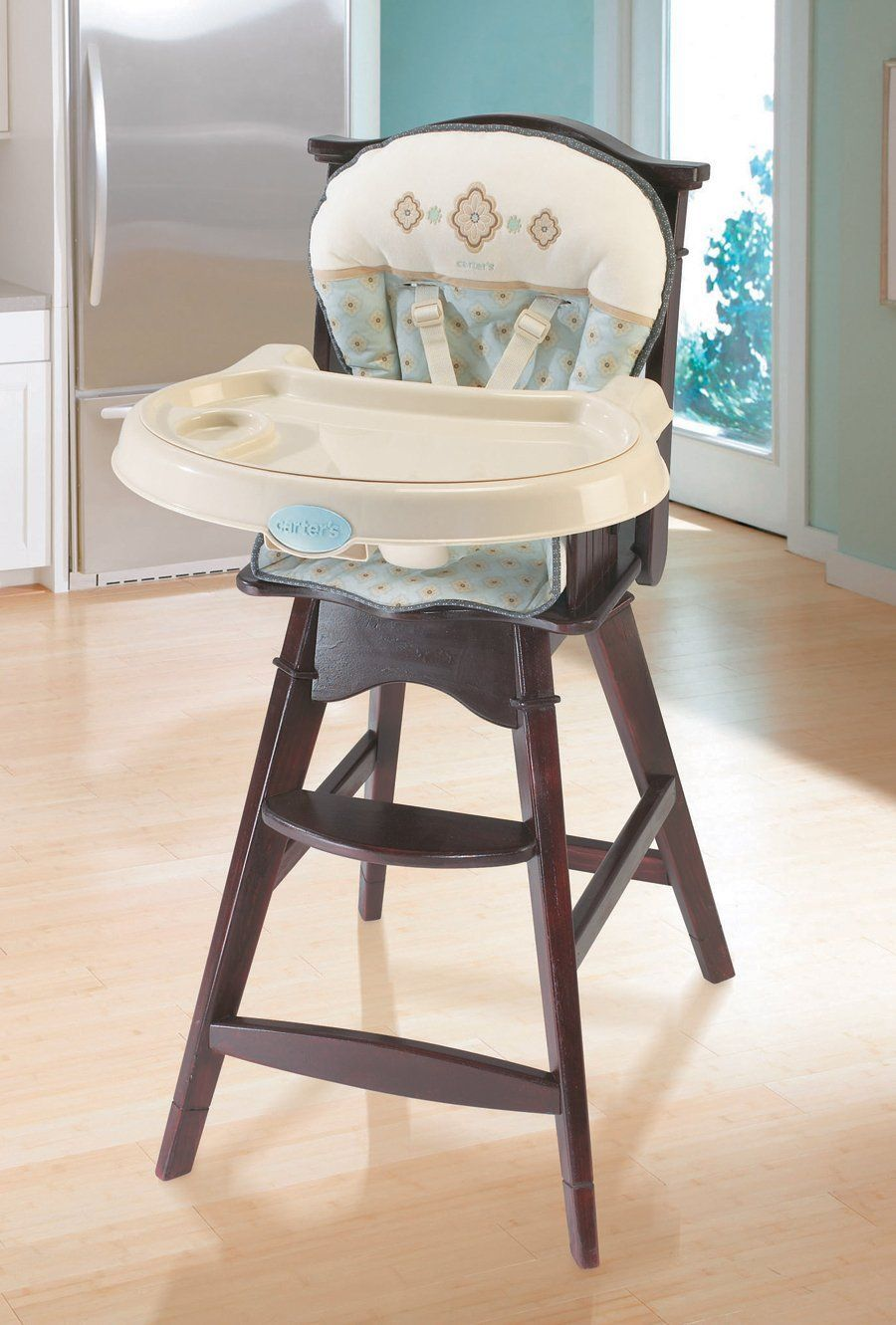 Carter's Classic Comfort Reclining Wood High Chair