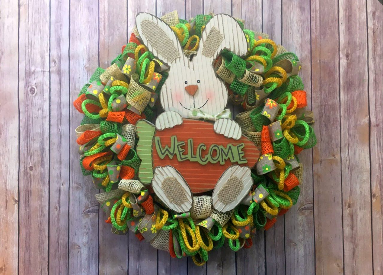 Ribbon wreath tutorial on wire hanger - Easy Loopy Loop Wreath Tutorial Ribbon Mesh And Tubing
