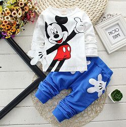 2Pcs Kids Minnie Mouse Spotted Outfit Set Girls Sweatshirt Tops Pants Tracksuit