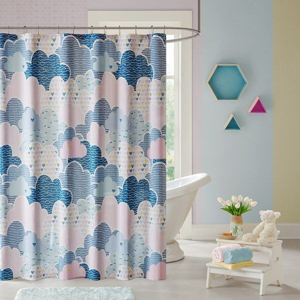 Float Among The Clouds With The Colorful Cloud 9 Shower Curtain