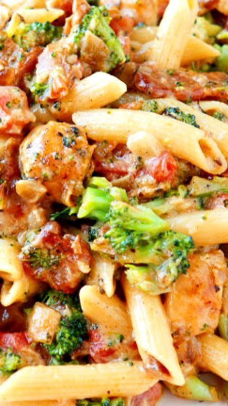 Cheesy Chicken Bacon Broccoli Pasta  Dinner  Main Dish -2856