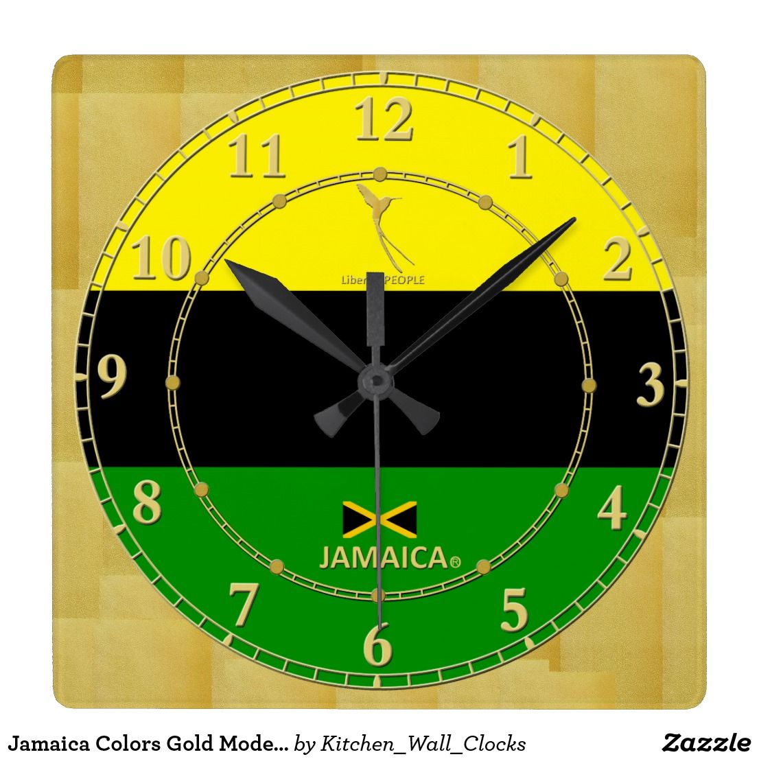Jamaica Colors Gold Modern Wall Clock Gift | Modern wall clocks ...