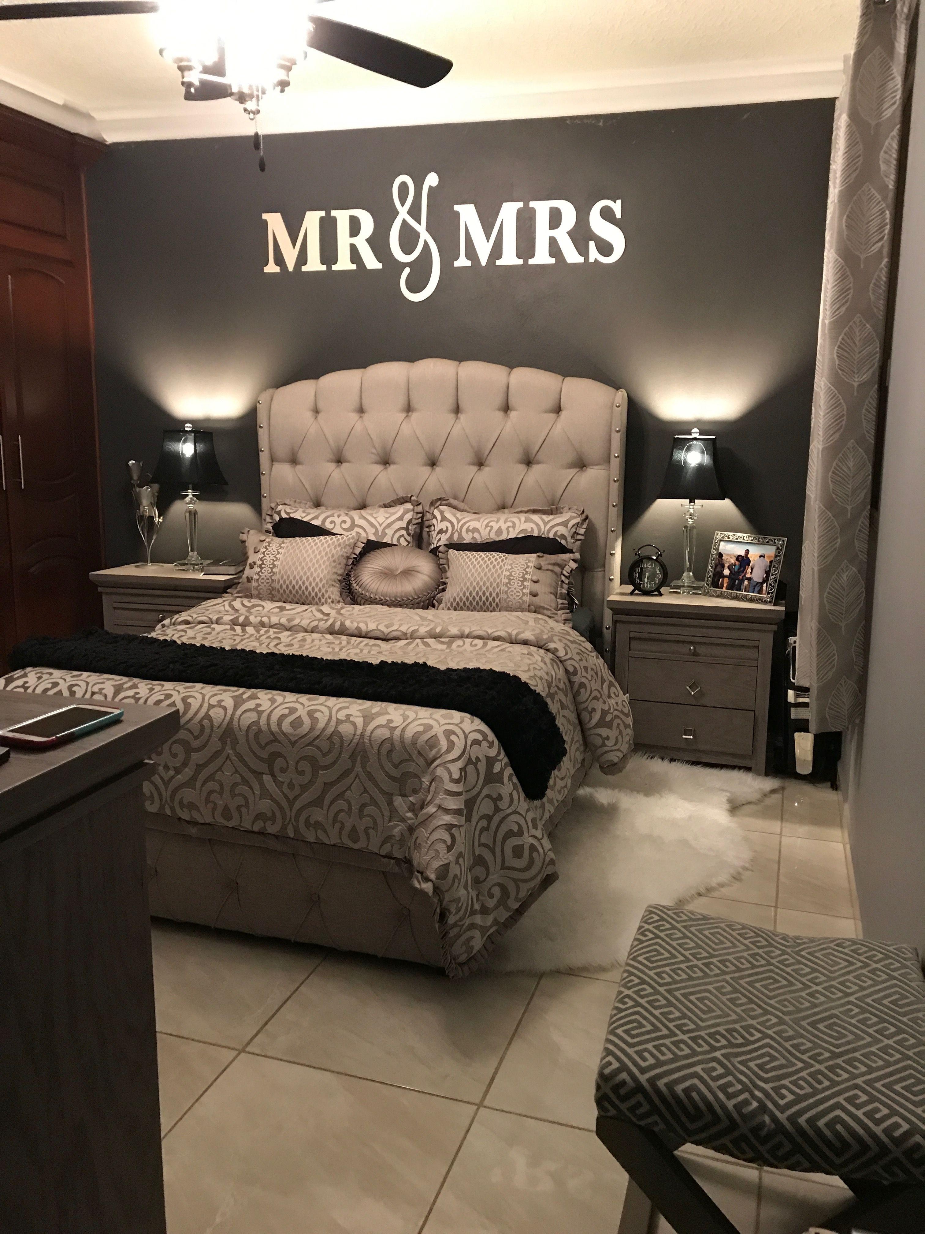 Master bedroom gray  Dormitorio matrimonial  Home sweet Home in   Pinterest