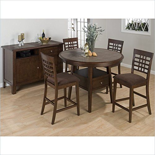1 Jofran 976 Series 7 Piece Round Counter Height Dining Set In Inspiration 7 Piece Round Dining Room Set Design Ideas
