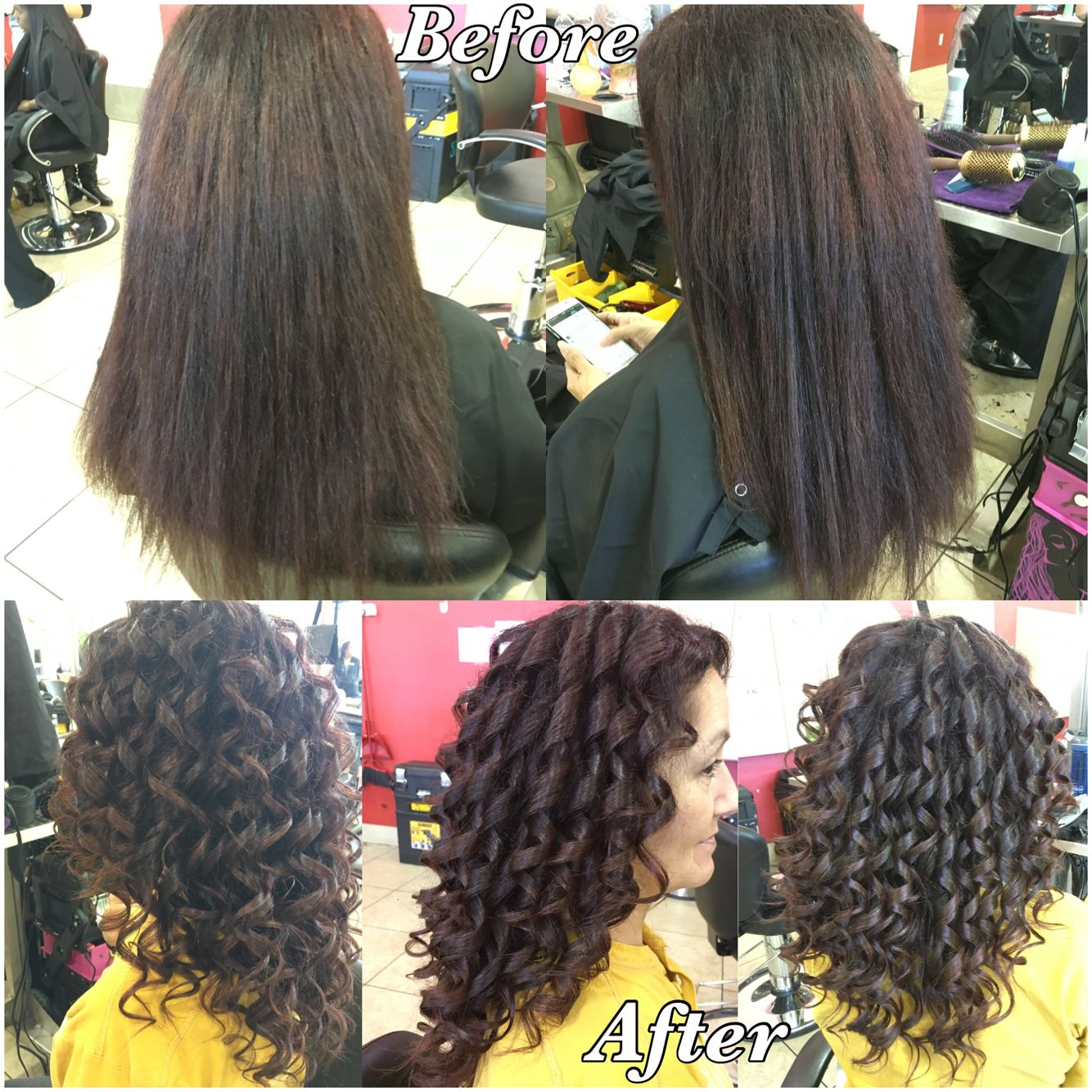 Shampoo Blow Dry And Spiral Curl Cosmo School Life Spiral