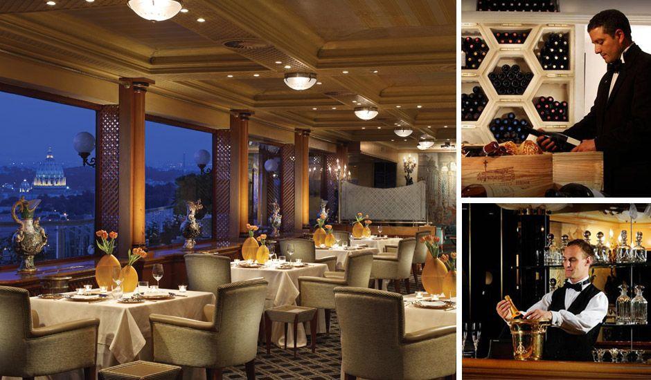 "6 Star Diamond Restaurant ""La Pergola"" in Rome, Italy"