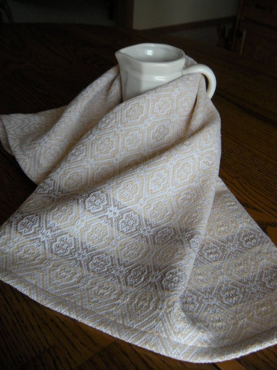 Woven Kitchen Towel Handwoven Tea Towel By ThistleRoseWeaving