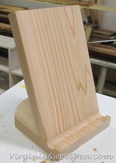 diy tablet holder wood projects pinterest bricolage tablette et bois. Black Bedroom Furniture Sets. Home Design Ideas