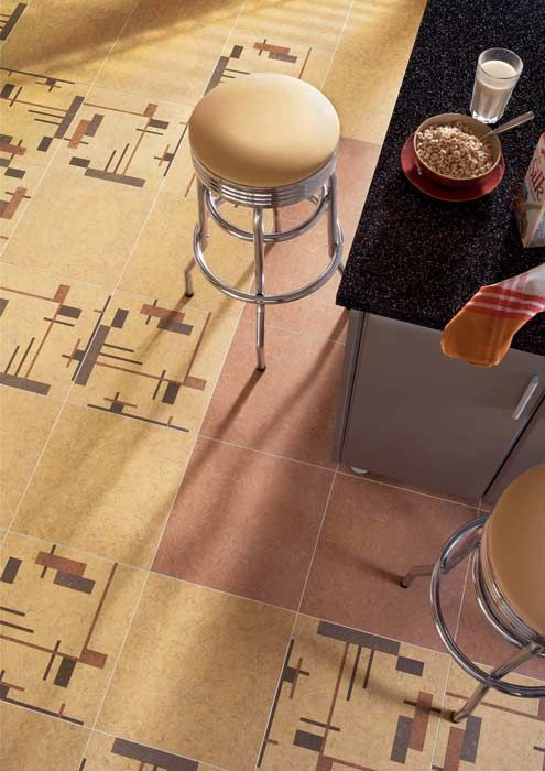 Ideas for Kitchen Floors: linoleum, but not these colours