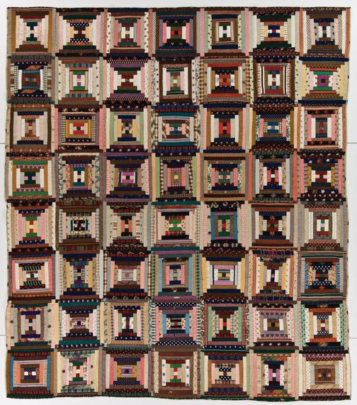 Log cabin quilt from the Jonathan Holstein Collection