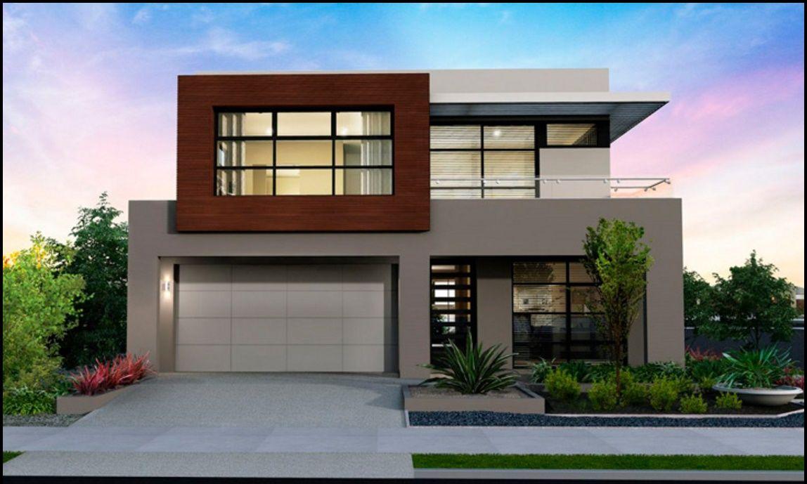 Fachada De Casa Moderna De 2 Pisos Y Cochera Doble Fachadas Casas Minimalistas Fachadas De Casas Modernas Casas Modernas