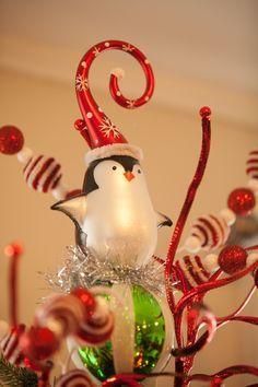 penguin tree topper - Google Search   Penguin   Penguins, Christmas ...