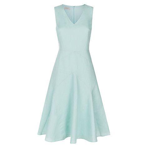 Hobbs Linen Naylor Dress, Light Eau De Nil | Kate Might Wear ...