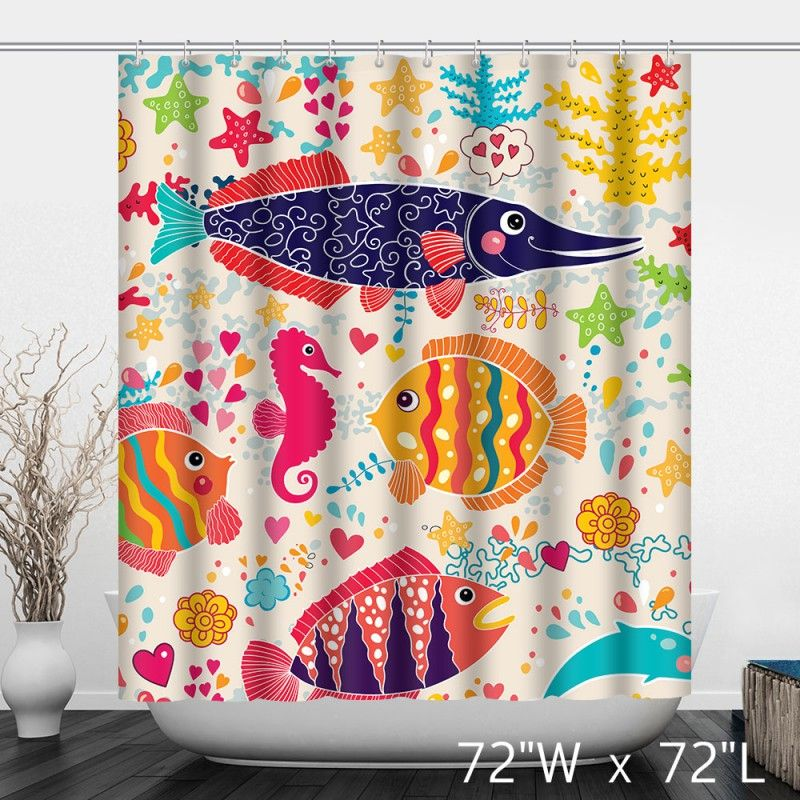The underwater world Colorful Tropical Fish Shower Curtain ...