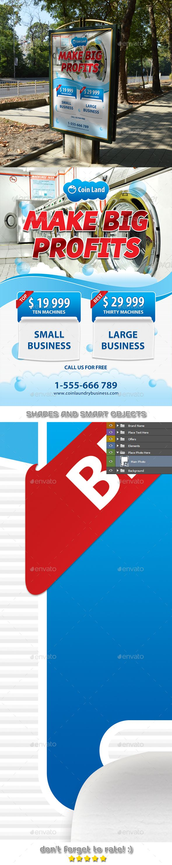 Coin laundry business poster template 43 signage templates coin laundry business poster template 43 accmission Gallery