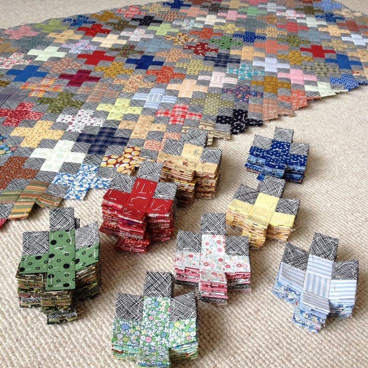 Ready to sew next team together - plus quilt, english paper piecing