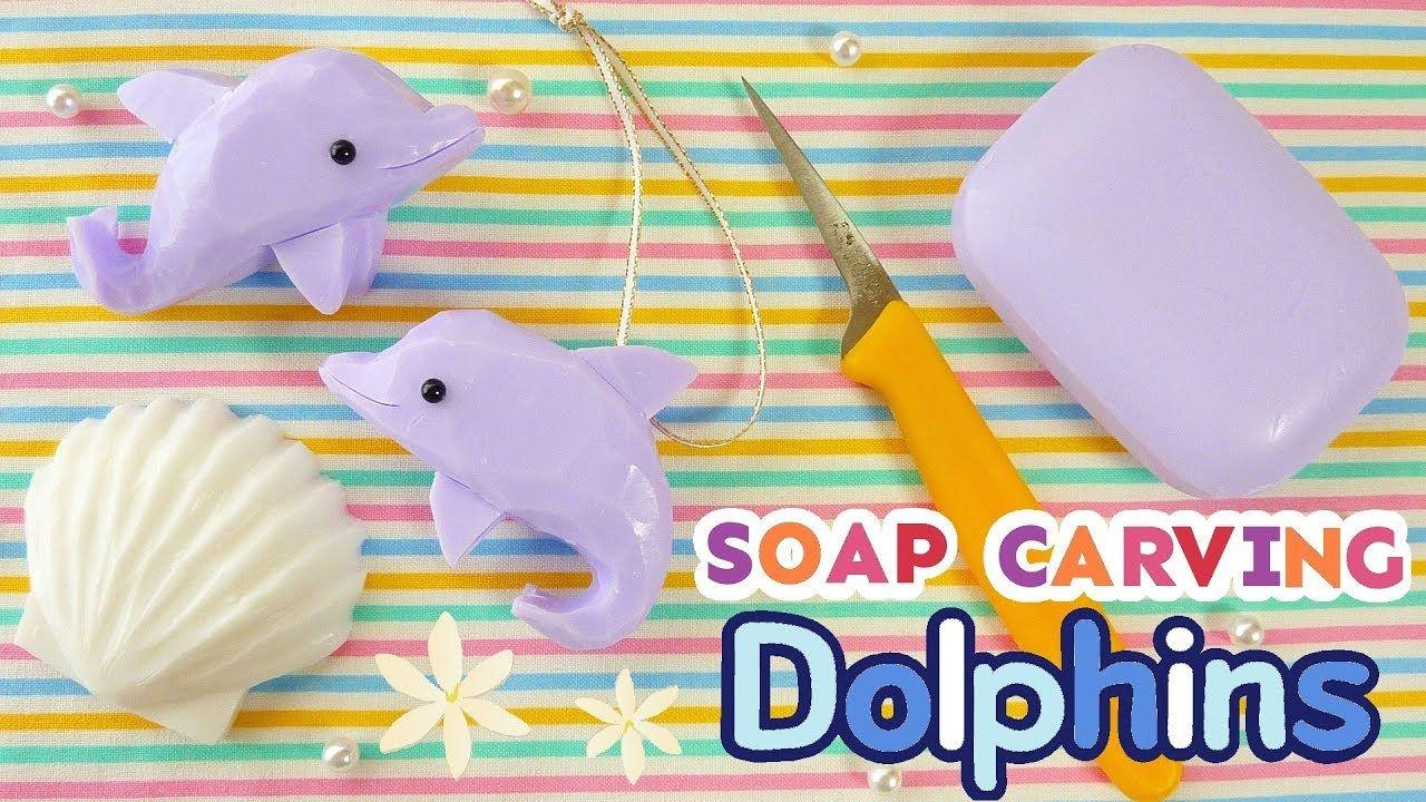 Soap carving dolphins easy tutorial asmr diy satisfying