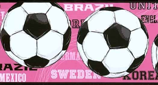 Womens World Cup Soccer Wallpaper Border JE3737BDB