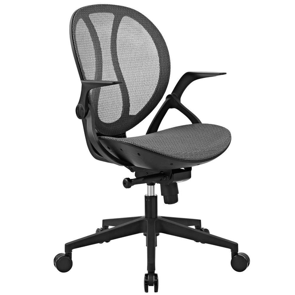 Conduct mesh office chair gray modway mesh office