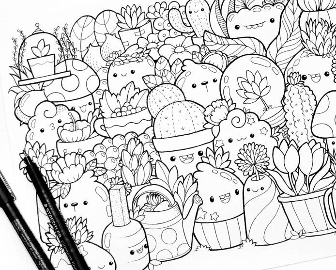 A week-by-week program to learn how to draw kawaii in 6