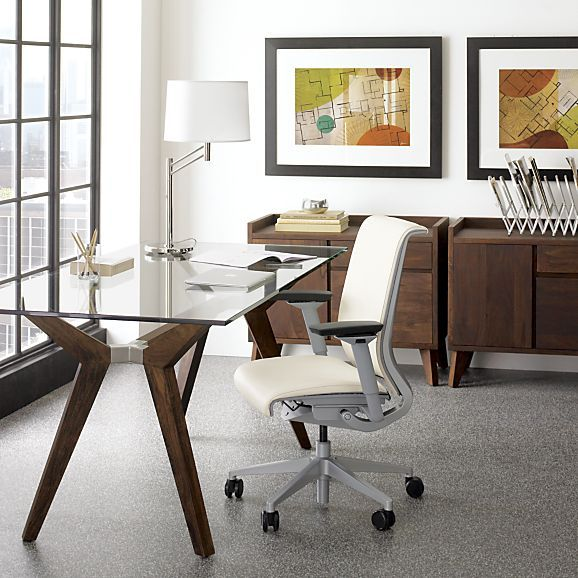 "Modular Home Office Furniture Designs Ideas Plans: Strut Bourbon Glass Top Table 70"" + Reviews"